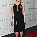 We spotted another sultry look on Christina Ricci, who chose a clingy black dress with sheer inserts at a New York City event.