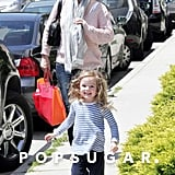 Jennifer Garner was accompanied by daughter Seraphina Affleck to pick up Violet Affleck from a ballet class in LA.