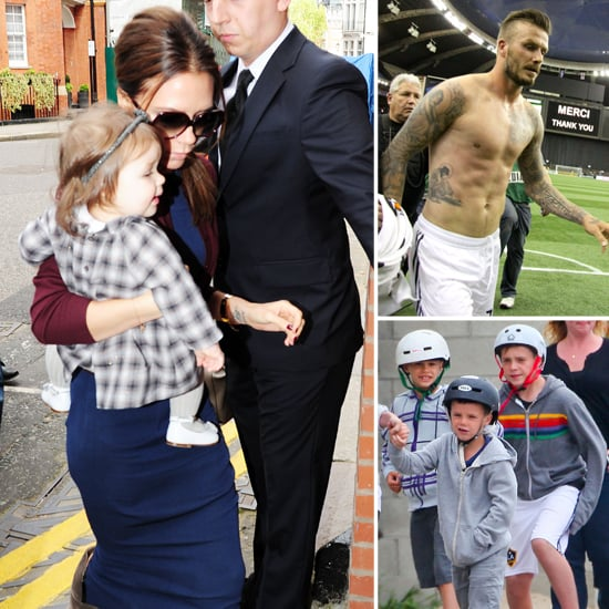 Victoria and Harper Hit London as Shirtless David Takes the Field in Canada
