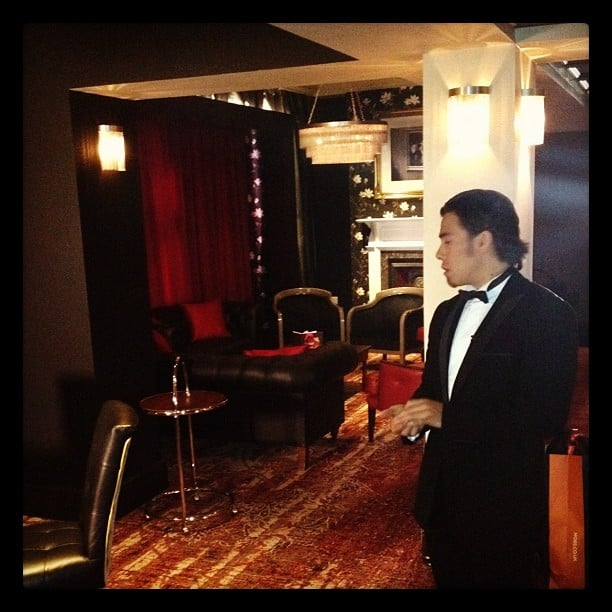 Apolo Ohno got fancy in black tie.  Source: Twitter user todayshow