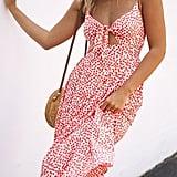 Ecowish Tie Front Midi Dress