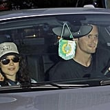 Alexander Skarsgard and Ellen Page left the LA Kings Stanley Cup finals game together in LA.
