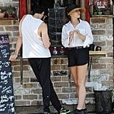 Elizabeth Olsen and Robbie Arnett at the Supermarket
