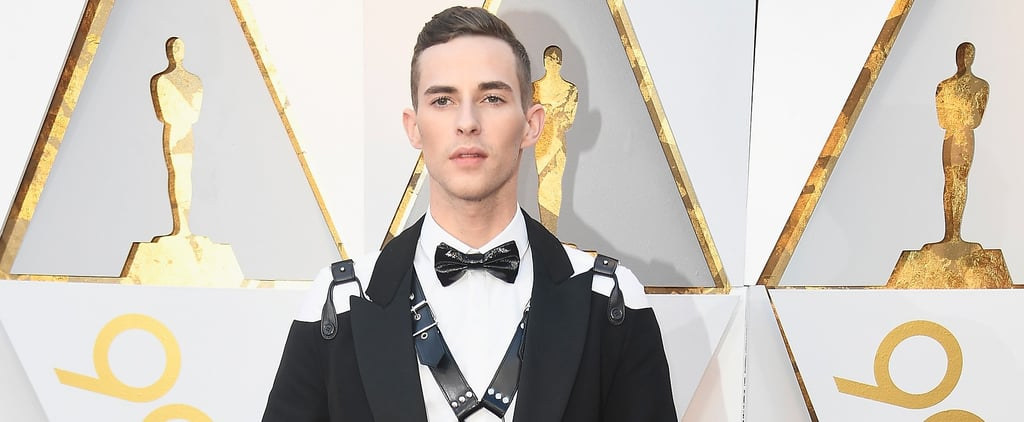 Adam Rippon Goes 50 Shades of FIERCE With a Leather Harness on the Oscars Red Carpet