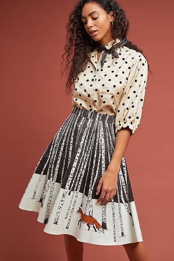 Corey Lynn Calter Winter Fox Skirt