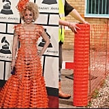 Joy Villa's dress looked just a little too much like that orange stuff from construction sites.