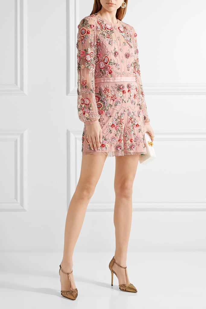 Needle & Thread Meadow Embellished Tulle Playsuit (£325)