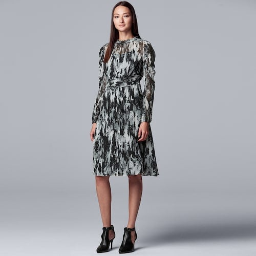 Simply Vera Vera Wang Smocked Long Sleeve Dress
