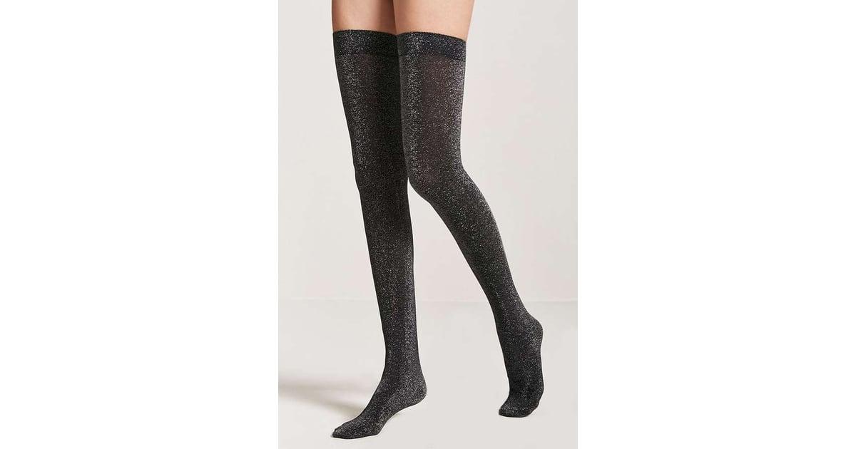 13d6775e2b1 Forever 21 Metallic Over-the-Knee Socks