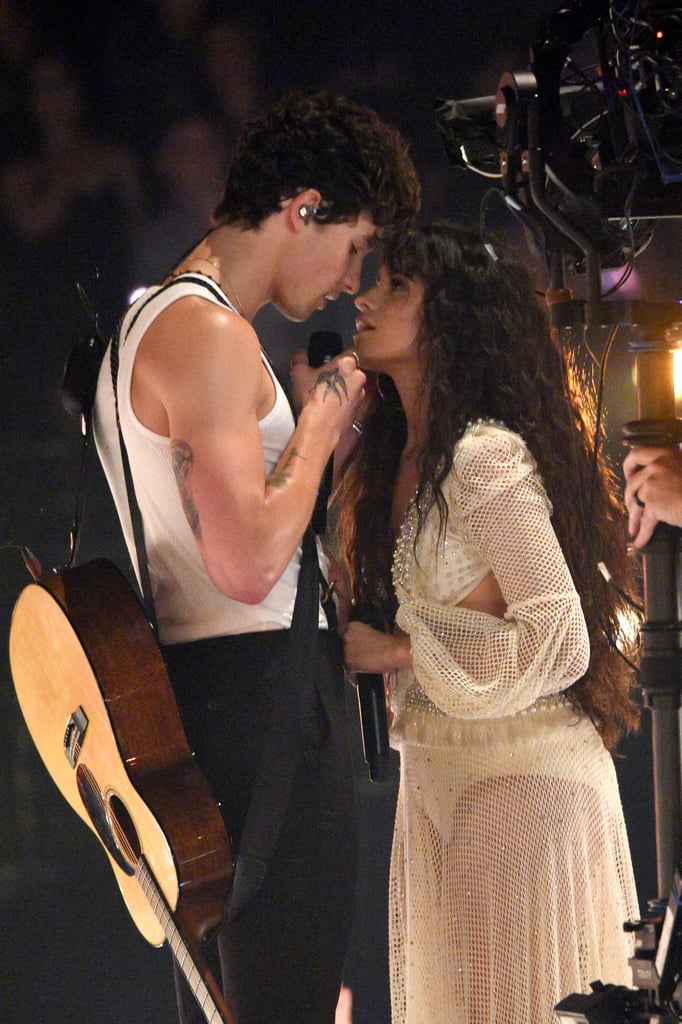"Shawn Mendes and Camila Cabello finally performed their sizzling duet ""Senorita"" live at the VMAS and it was as steamy as we expected. The new couple kept it simple, yet intensely intimate with just the two of them on stage surrounded by lights and singing their hearts out. If their PDA-filled outings didn't make it obvious that they have a ton of chemistry, their performance definitely will!  We didn't get any of the dance moves Mendes rehearsed faithfully for the VMA-nominated music video, but the sparks flying between the two singers is all we really needed. Check out their sultry performance ahead!      Related:                                                                                                           Camila Cabello's VMAs Gown Looks So Angelic, Until You See Those Cut Outs"