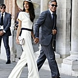 Amal stepped out in a Stella McCartney look during her wedding weekend in Venice, Italy.