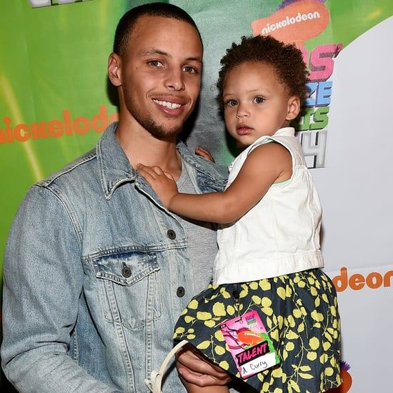 Riley Curry Does Steph Curry's Chest Bump Before Game 1 2015