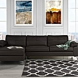 Leather Sectional L-Shape Couch Sofa