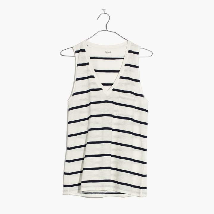 91f66c522b482 Madewell Whisper Cotton V-Neck Pocket Tank