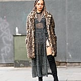Style Your Leopard-Print Coat With: A Leopard-Print Dress and Boots