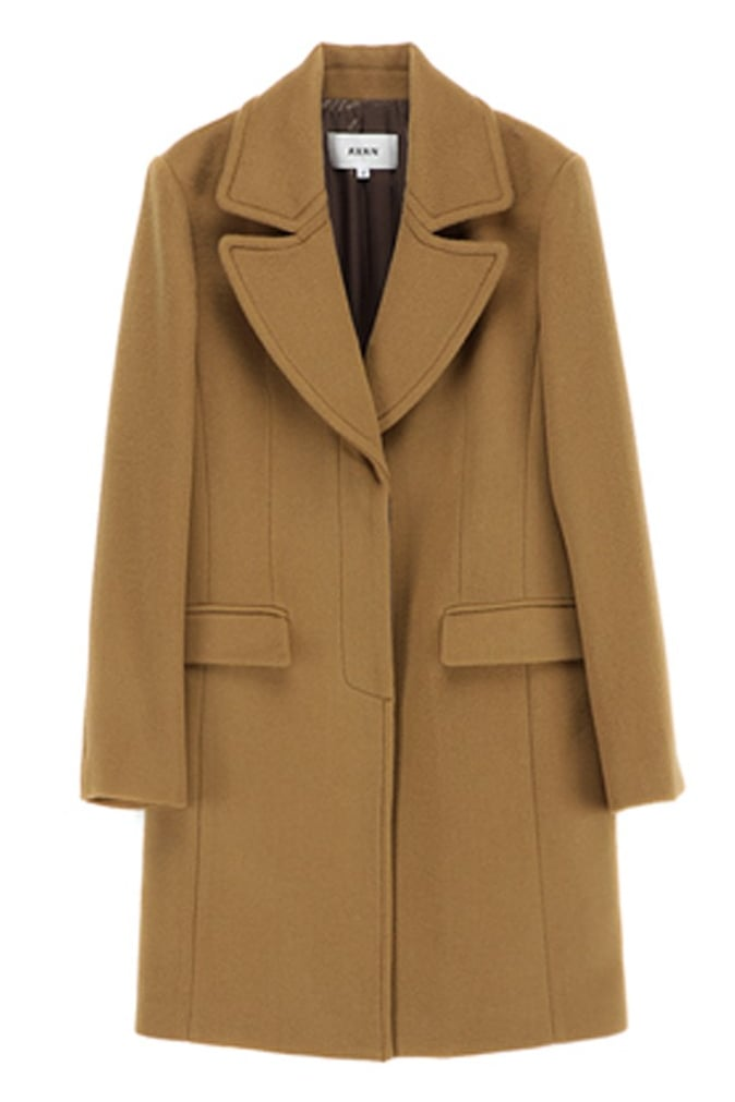 Avan boxy military camel coat ($159)
