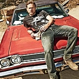 When He Casually Posed on a Car