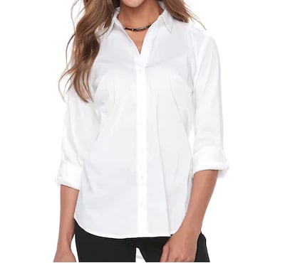 Structured Button-Down Shirt