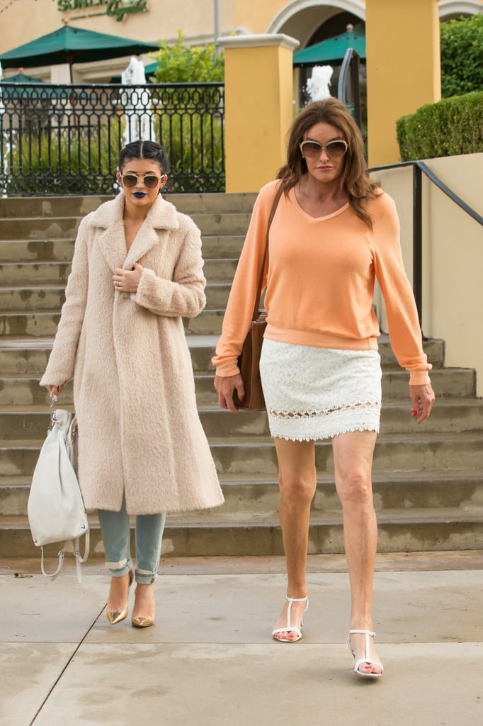 Caitlyn and Kylie Jenner Step Out For a Sweet Dinner Date