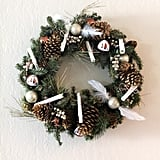 You can try your hand at a simpler Harry Potter wreath, with DIY scrolls and Deathly Hallows ornaments.