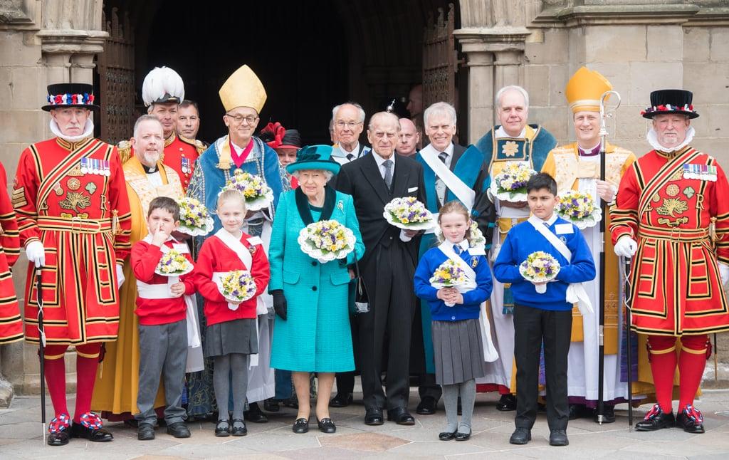 Queen Elizabeth II at Royal Maundy Service April 2017