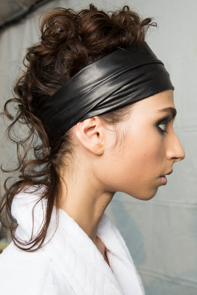 """Shiny Lurex Headbands and """"Mullet Tails"""" at Tom Ford"""