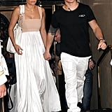 Jennifer Lopez and boyfriend Casper Smart left her birthday lunch.
