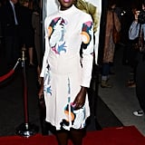 Lupita selected a more playful number for the LA premiere of her movie. We love that she co-ordinated her lipstick and eyeshadow with her colourful dress.