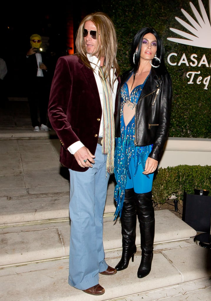 In 2014, Cindy Crawford and Rande Gerber were Cher and Gregg Allma in LA.