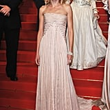 Naomi Watts looked column-esque in her pale pink Gucci gown.