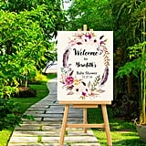 Boho Baby Welcome Sign