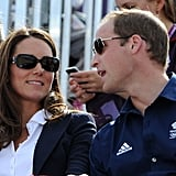 Prince William and Kate Middleton looked cute in their shades cheering on Team GB.