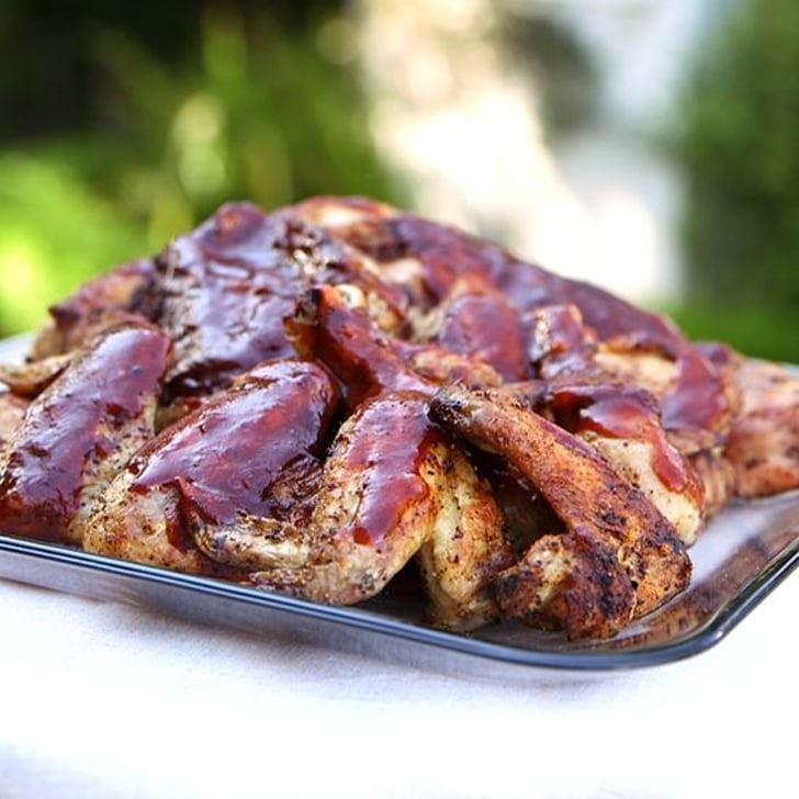 Grilled Chicken Thighs and Wings With Barbecue Sauce