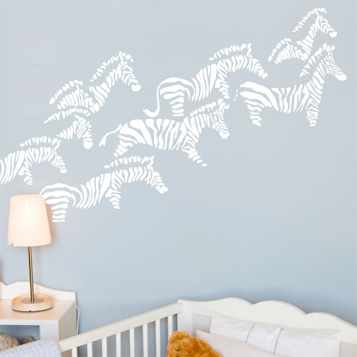 It's a jungle in here! The silhouettes of a herd of zebras ($58) add a touch of the wild to your baby's room.