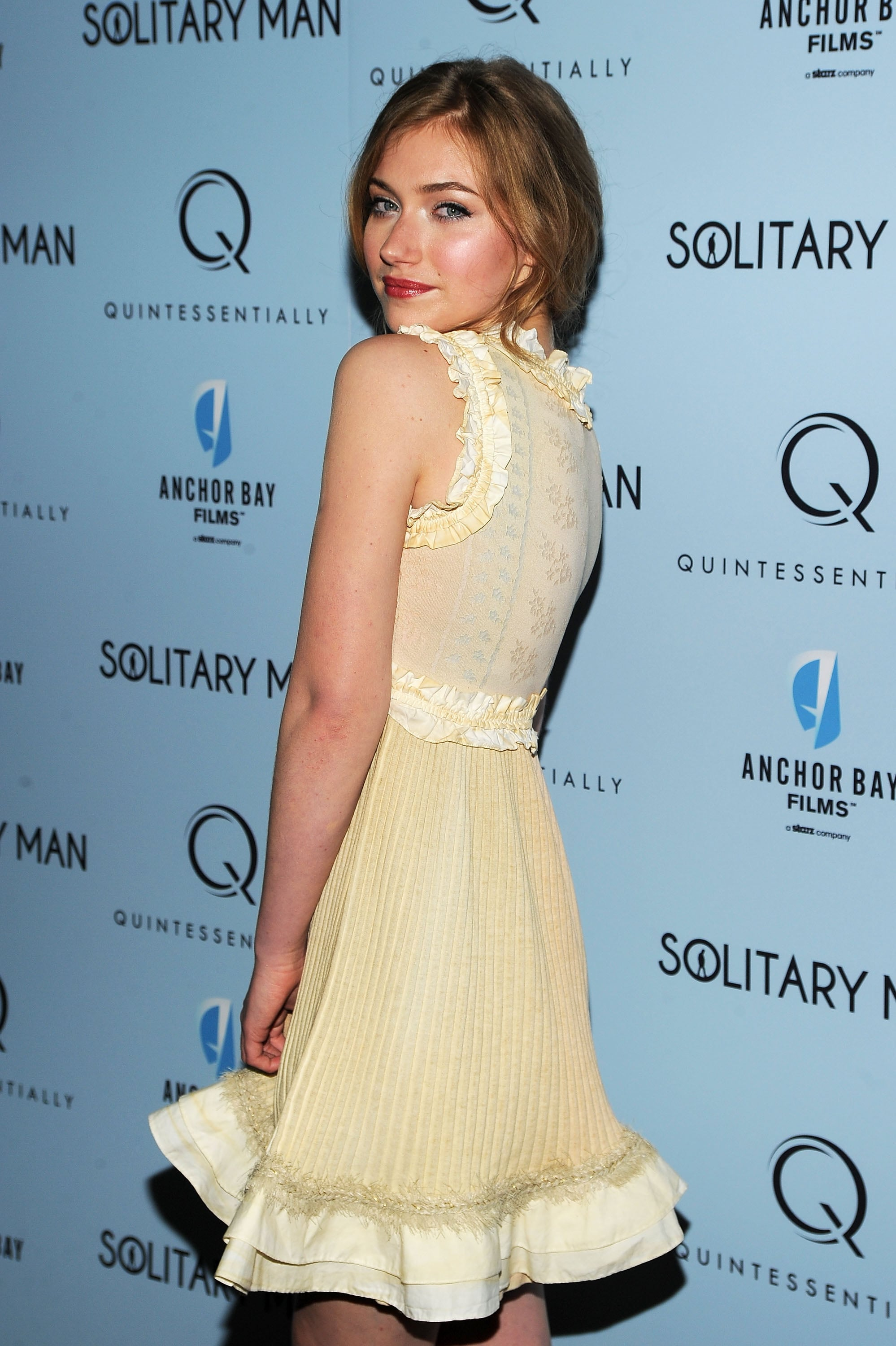 A frilled pale yellow dress was a sweet choice for the premiere of Solitary Man in New York.