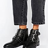 Asher Leather Studded Ankle Boots (£60)