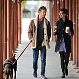 Anne Hathaway and Adam Shulman spent some time together in Brooklyn.