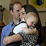 In Kate's favorite picture from the royal tour, Prince George snuggled up with his mom.