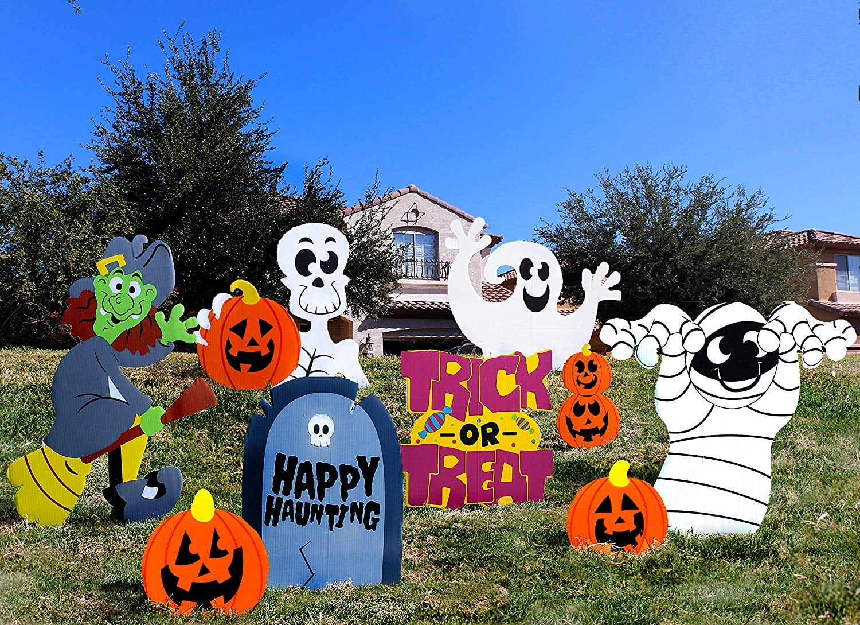 Joyin Friendly Halloween Corrugate Yard Stake Signs
