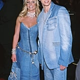 Britney Spears and Justin Timberlake wore their iconic double-denim looks to the show in 2001.
