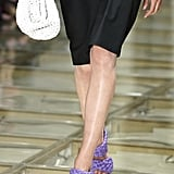 A Bottega Veneta Bag and Shoes on the Runway During Milan Fashion Week
