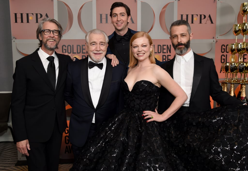 It's no surprise that Succession scored a whopping 18 nods at this year's Emmys! While the HBO series centers around the dysfunctional Roy family and all of their twisted drama, off screen, the cast — including Brian Cox, Jeremy Strong, Kieran Culkin, Sarah Snook, Nicholas Braun, Alan Ruck, Matthew Macfadyen, and J. Smith-Cameron — seem to get along and actually like each other. In fact, when they're not filming, they're either serving looks on the red carpet or goofing around with one another. In honor of their Emmy nominations, look back at some of the cast's cutest moments together.      Related:                                                                                                                                Please Enjoy 10 Minutes of the Most Artful and Aggressive Insults From Succession
