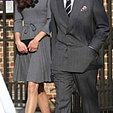 When William was away training in the Falkland Islands and Kate was undertaking her first solo royal engagements, Charles took her under his wing by inviting her along on one of his.