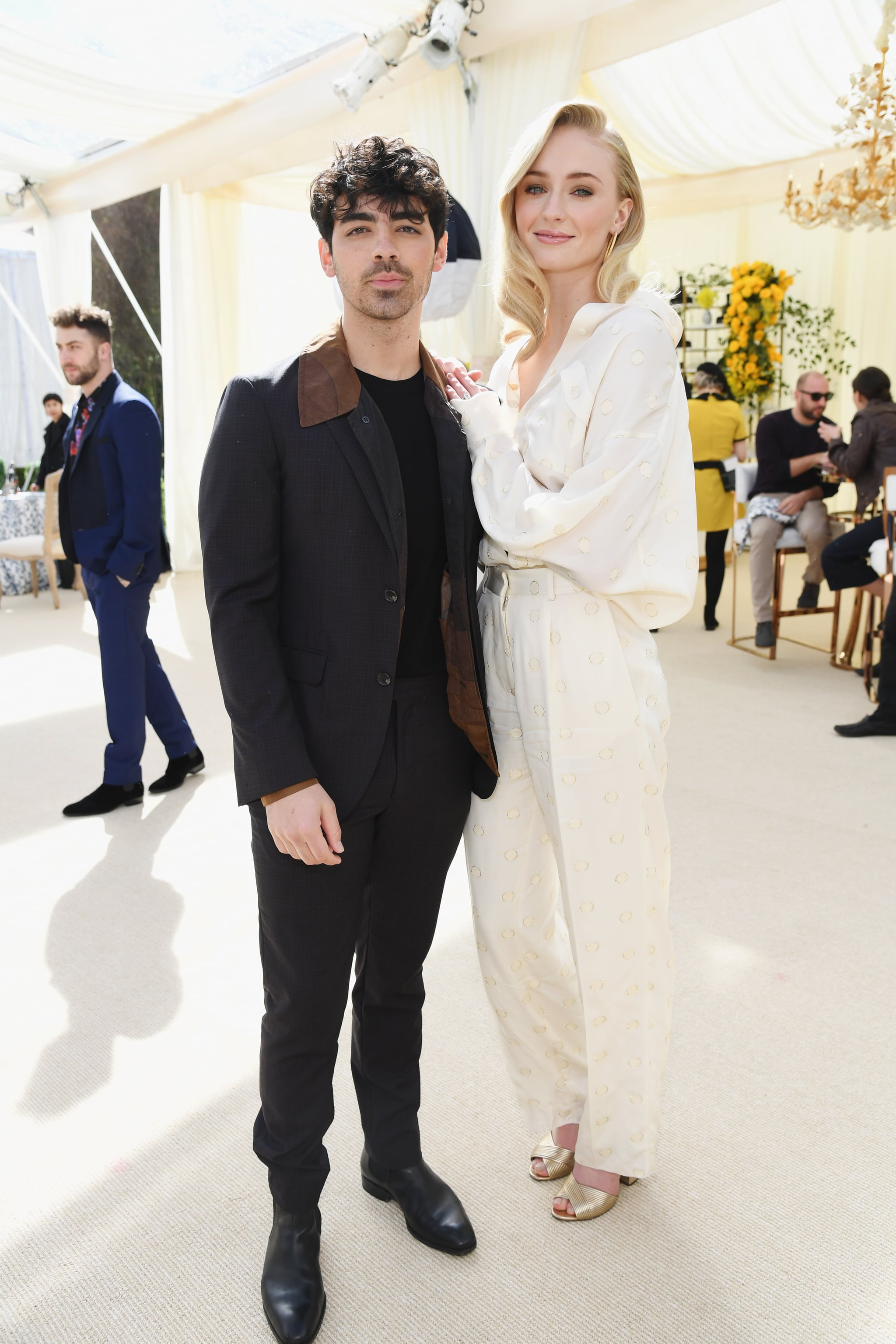 LOS ANGELES, CA - FEBRUARY 09:  Joe Jonas and Sophie Turner attend 2019 Roc Nation THE BRUNCH on February 9, 2019 in Los Angeles, California.  (Photo by Kevin Mazur/Getty Images for Roc Nation )