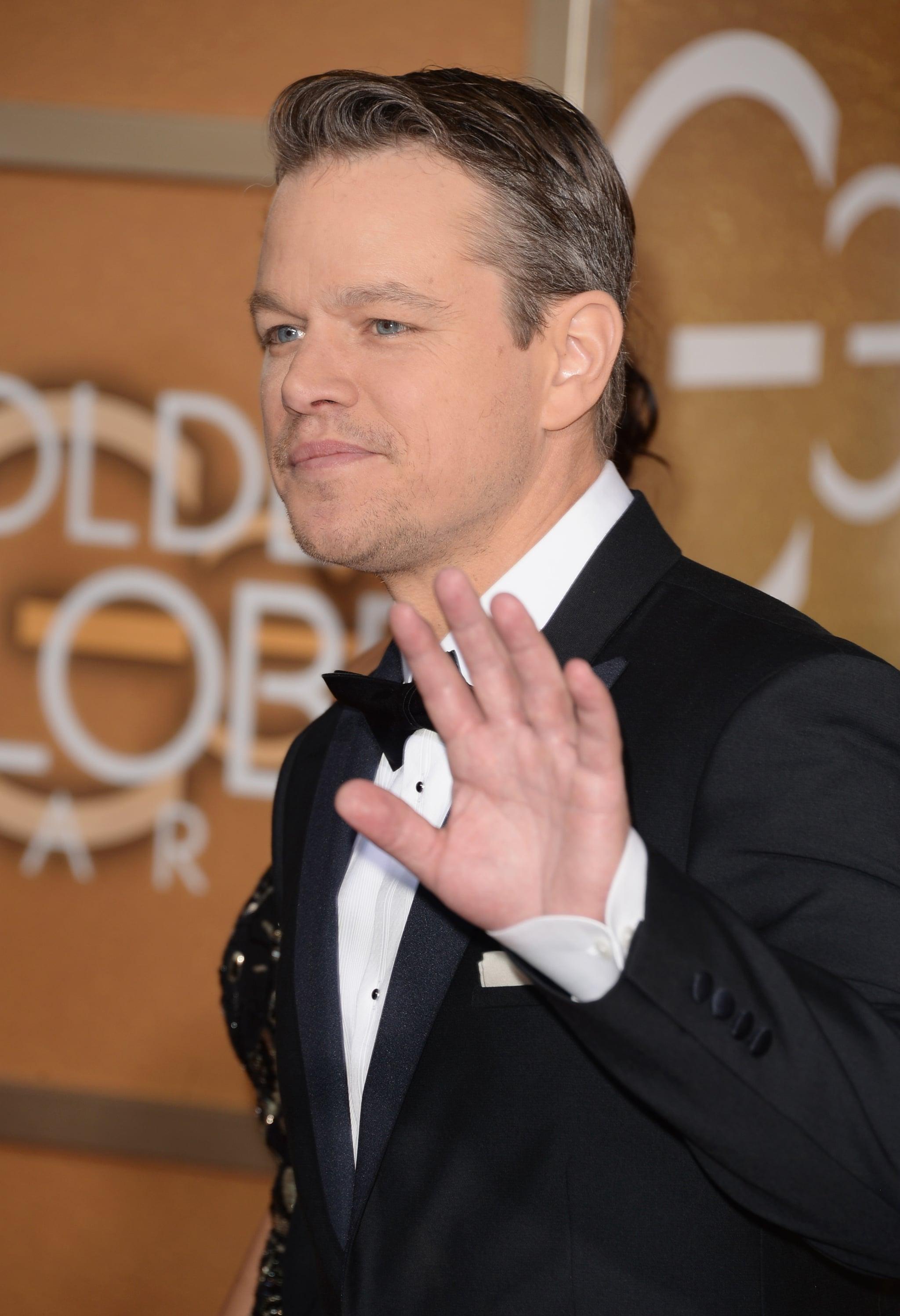 "Matt Damon Gets Branded the Globes ""Garbage Man"""