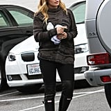 Hilary Duff wore rain boots out in LA.