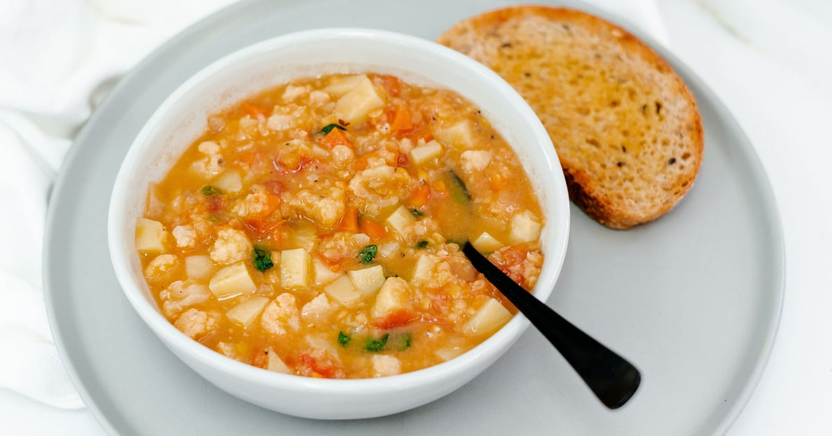 Looking For a Little Dinner Inspiration? Try This Yummy Red Lentil Minestrone From Sam Wood