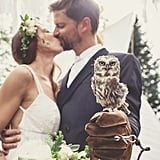 Nothing screams unique fairytale more than a groom arriving via canoe, bridal portraits in a fir forest, and a tiny little owl as the ring bearer. For Violaine and Gaetan, that's exactly how they celebrated their special day. Luckily for us, photographer Bonnallie Brodeur captured all the excitement, and POPSUGAR Love & Sex is rounding up the best moments so you can see how the couple's dream wedding became a reality.