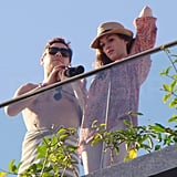 Anne Hathaway Throws on a Cover-Up to Check Out the View in Rio