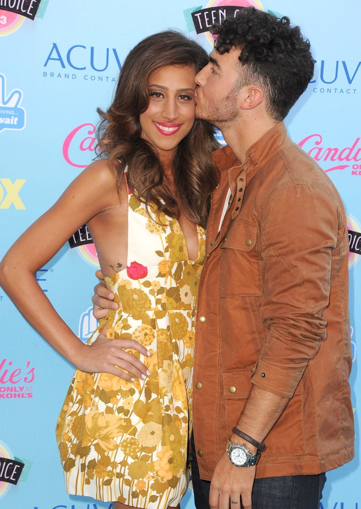 Kevin Jonas With Danielle at the Teen Choice Awards in 2013